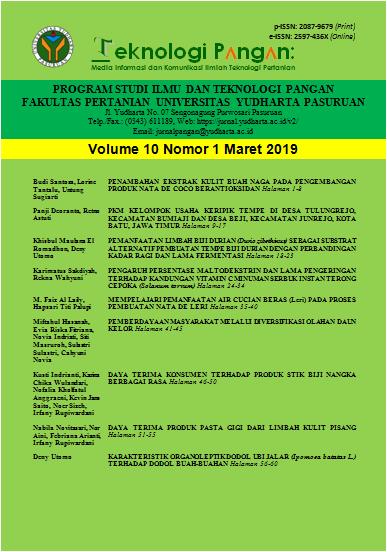Cover Vol 19 (1) 2019