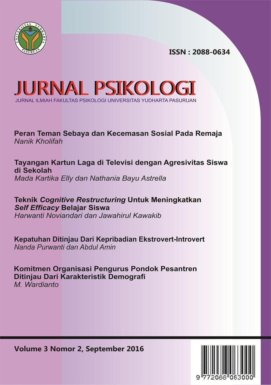 Jurnal Psikologi Kepribadian Pdf