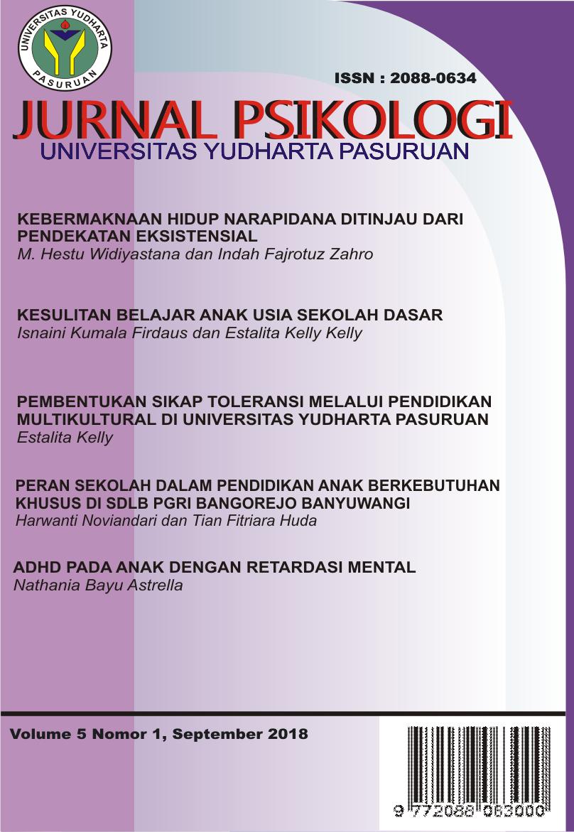Kesulitan Belajar Anak Usia Sekolah Dasar Jurnal Psikologi Jurnal Ilmiah Fakultas Psikologi Universitas Yudharta Pasuruan